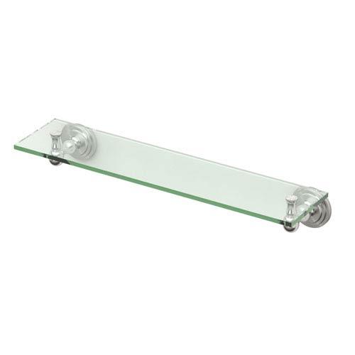 Marina Satin Nickel Glass Shelf