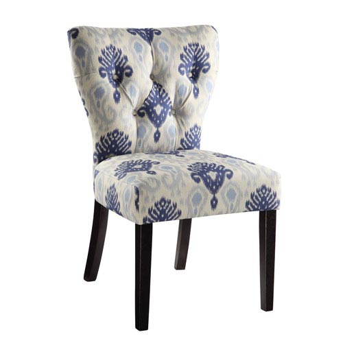 Andrew Medallion Ikat Blue Chair