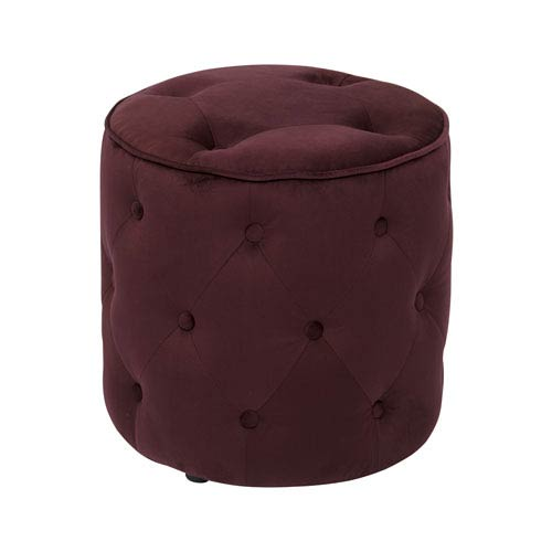 Curves Port Tufted Round Ottoman