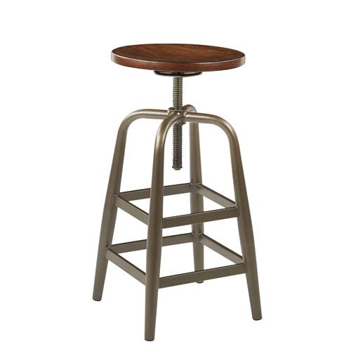 Sullivan Pewter Swivel Stool
