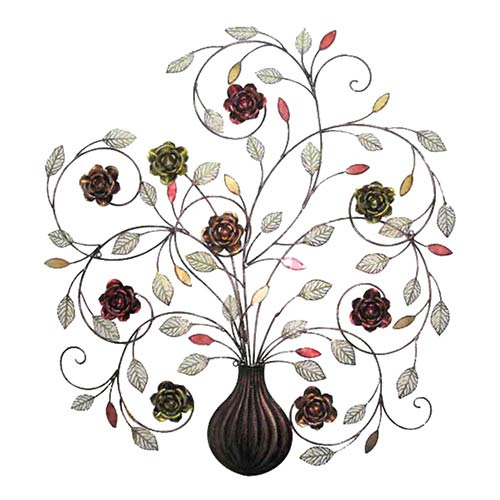 Multicolor Swirled Stem Wall Hanging Decor with Rose