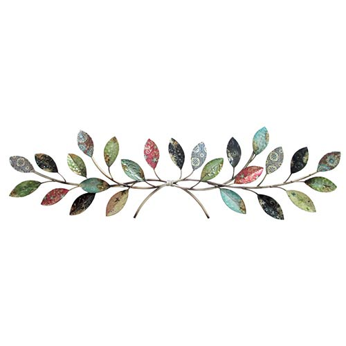 Multicolor Intertwining Branch Wall Decor with Leaves