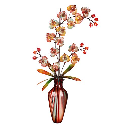 Multicolor Tall Vase Wall Hanging Decor With Flower 814461026871