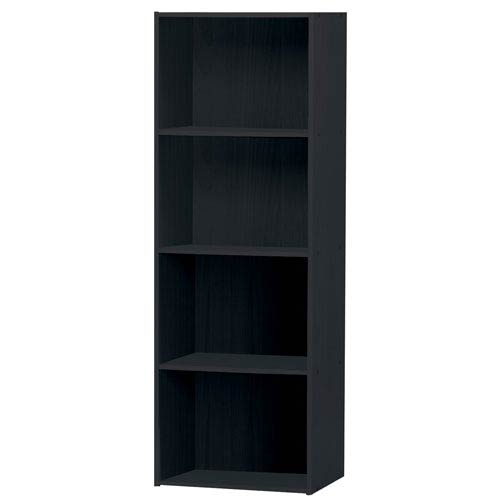 Black Four-Shelf Utility Cabinet