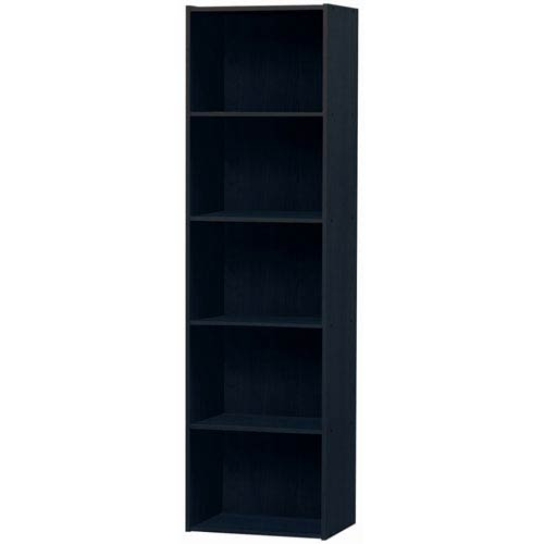 Black Five-Shelf Utility Cabinet