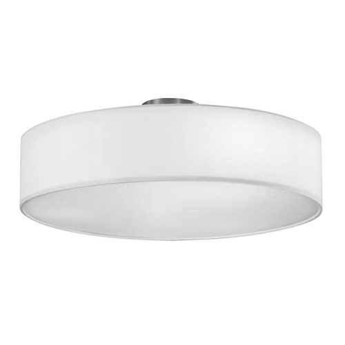 Grannus White Three-Light Flush Mount