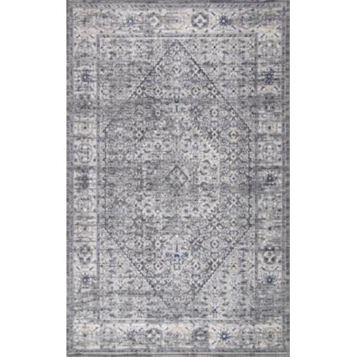 Vintage Medallion Doris Gray Rectangular: 6 Ft. 7 In. x 9 Ft. Rug