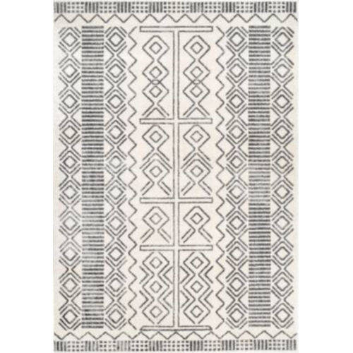 Tribal Shelly Ivory Rectangular: 5 Ft. x 7 Ft. 5 In. Rug