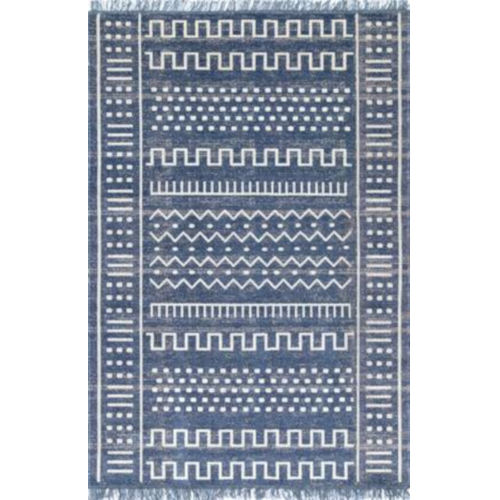 Tribal Cora Blue Rectangular: 8 Ft. x 10 Ft. Rug