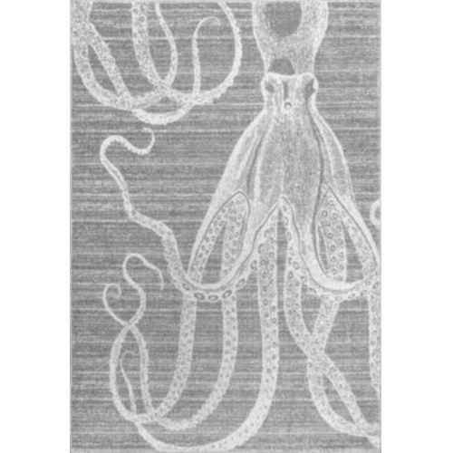 Thomas Paul Octopus Gray Rectangular: 10 Ft. x 14 Ft. Rug