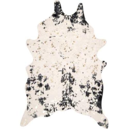 Iraida Faux Cowhide Black Shaped: 5 Ft. x 6 Ft. 7 In. Rug