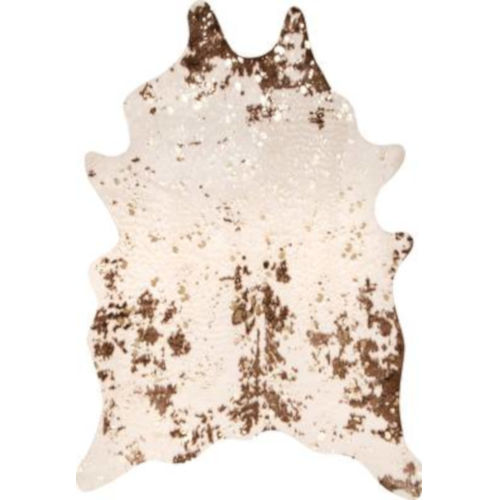 Iraida Faux Cowhide Brown Shaped: 5 Ft. x 6 Ft. 7 In. Rug
