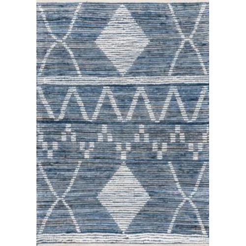 Woven Juanita Blue Rectangular: 7 Ft. 6 In. x 9 Ft. 6 In. Rug