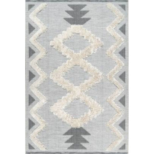 Chevron Sadie Off White Rectangular: 7 Ft. 10 In. x 10 Ft. 10 In. Rug
