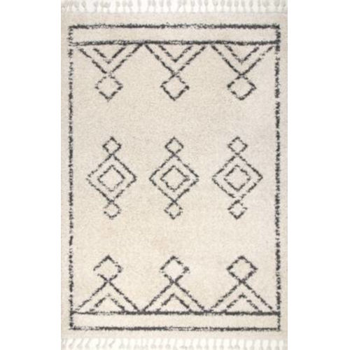 Mackie Moroccan Off White Runner: 2 Ft. 8 In. x 8 Ft.
