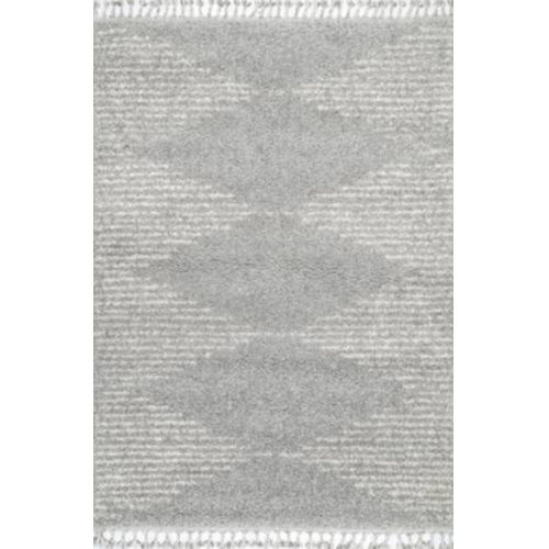 Bria Moroccan Gray Rectangular: 5 Ft. 3 In. x 7 Ft. 7 In. Rug