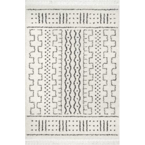 Sophie Moroccan Demarche Off White Rectangular: 7 Ft. 10 In. x 10 Ft. Rug