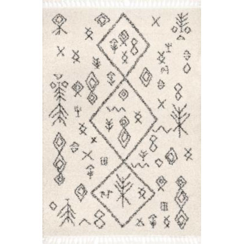 Kayla Moroccan Abstract Off White Rectangular: 5 Ft. 3 In. x 7 Ft. 7 In. Rug