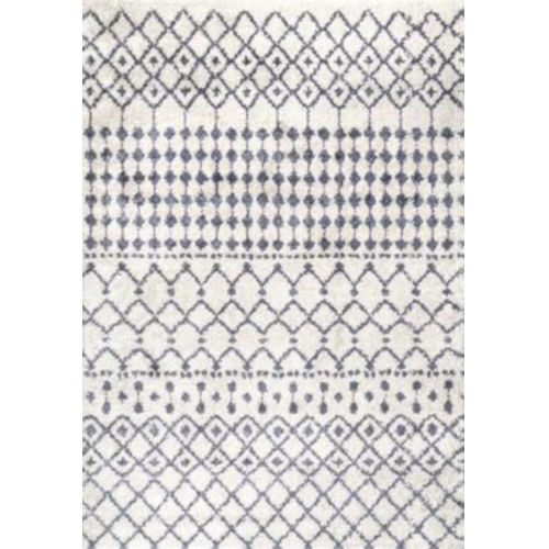Moroccan Barbara Beige Rectangular: 5 Ft. 3 In. x 7 Ft. 7 In. Rug