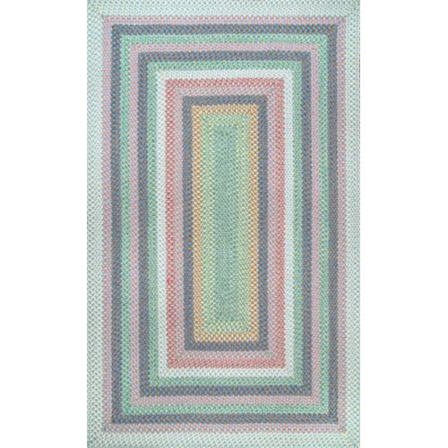 Braided Shay Pink Multicolor Rectangular: 3 Ft. x 5 Ft. Rug