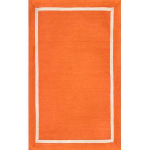 Braided Gwenyth Orange Rectangular: 7 Ft. 6 In. x 9 Ft. 6 In. Rug