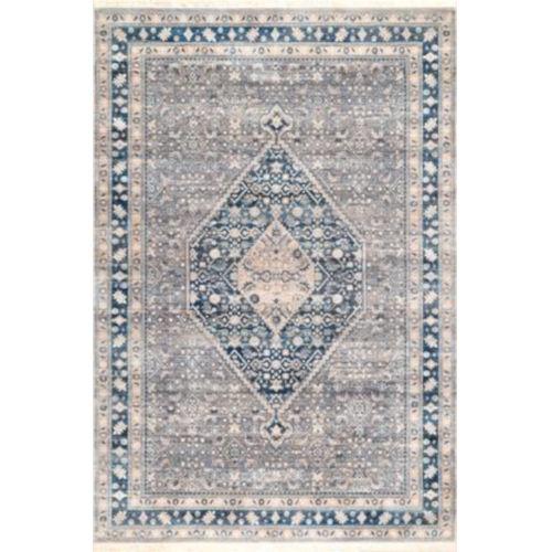 Vintage Eleanor Medallion Blue Runner: 2 Ft. 6 In. x 8 Ft.