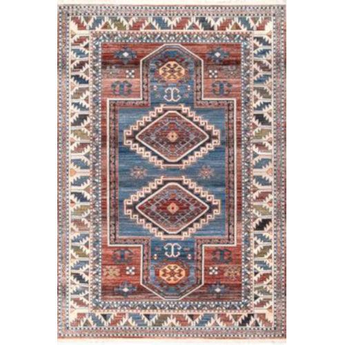 Vintage Kathryn Aztec Blue Rectangular: 5 Ft. x 7 Ft. 9 In. Rug