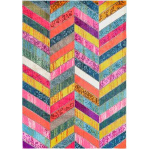Shante Multicolor Rectangular: 6 Ft. 7 In. x 9 Ft. Rug