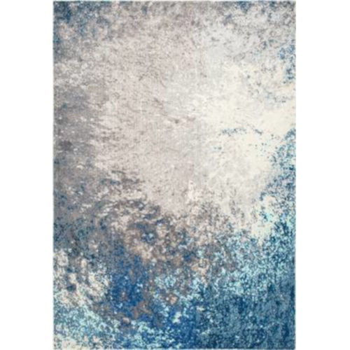 Donya Abstract Blue Rectangular: 9 Ft. x 12 Ft. Rug