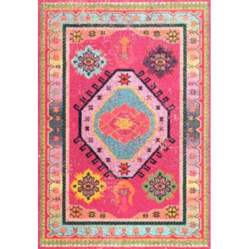 Bohemian Christie Pink Rectangular: 6 Ft. 7 In. x 9 Ft. Rug