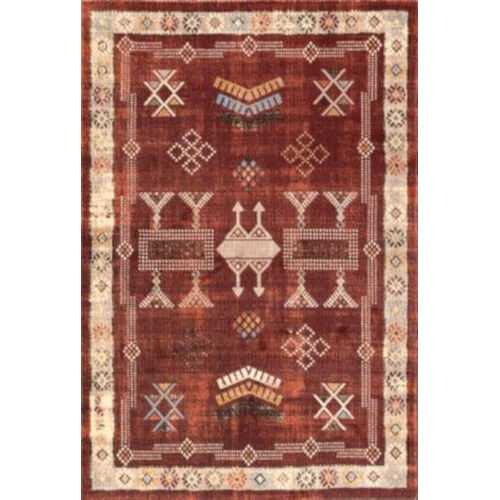 Tribal Edith Red Rectangular: 6 Ft. 7 In. x 9 Ft. Rug