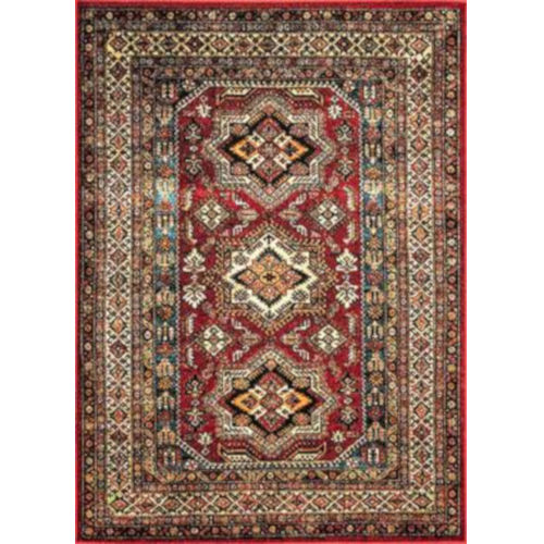 Medieval Randy Red Rectangular: 6 Ft. 7 In. x 9 Ft. Rug