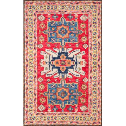 Eve Tribal Red Rectangular: 7 Ft. 6 In. x 9 Ft. 6 In. Rug