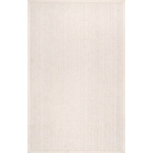 Natural Textured Suzanne Cream Rectangular: 8 Ft. x 10 Ft. Rug