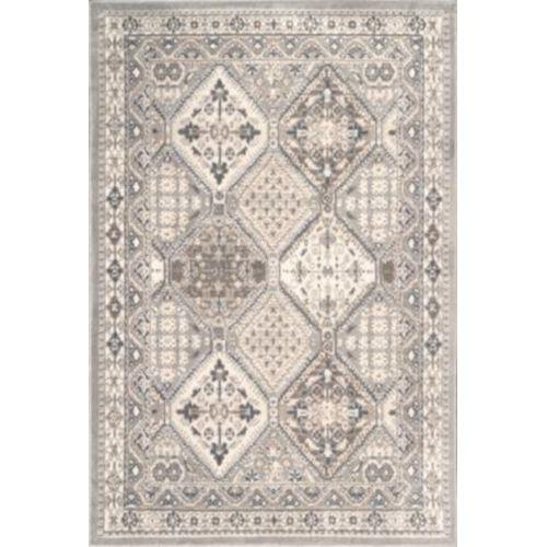 Vintage Tile Becca Gray Rectangular: 6 Ft. 7 In. x 9 Ft. Rug