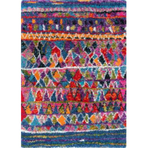 Leisha Moroccangy Multicolor Rectangular: 6 Ft. 7 In. x 9 Ft. Rug