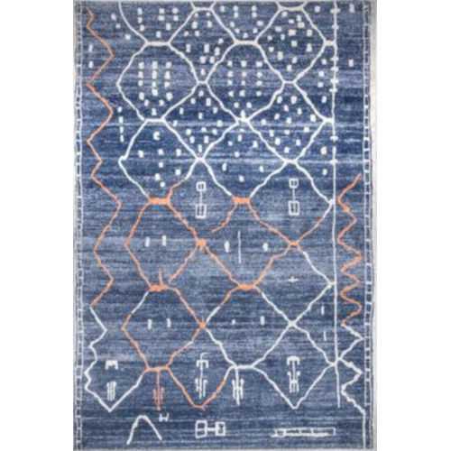 Missy Moroccan Blue Rectangular: 6 Ft. 7 In. x 9 Ft. Rug