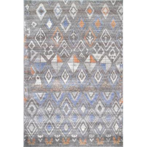 Marcella Trellis Gray Rectangular: 5 Ft. x 7 Ft. 5 In. Rug