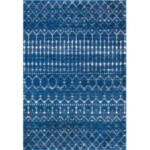 Moroccan Blythe Blue Rectangular: 6 Ft. 7 In. x 9 Ft. Rug