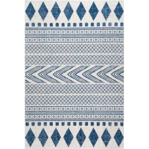Shaina Tribal Blue Rectangular: 5 Ft. x 7 Ft. 5 In. Rug