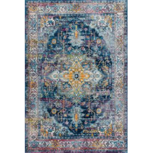 Vintage Judy Blue Rectangular: 7 Ft. 10 In. x 10 Ft. 10 In. Rug