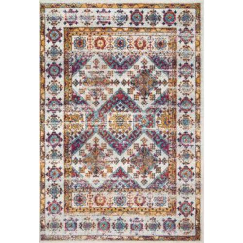 Joseline Faded Tribal Multicolor Rectangular: 4 Ft. x 6 Ft. Rug