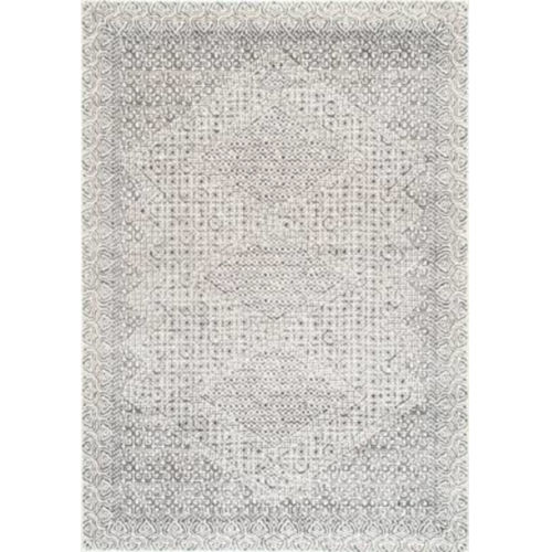 Vintage Exie Light Gray Rectangular: 4 Ft. x 6 Ft. Rug