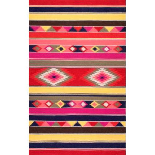 Flatweave Ladonna Tribal Kilim Multicolor Rectangular: 8 Ft. 6 In. x 11 Ft. 6 In. Rug