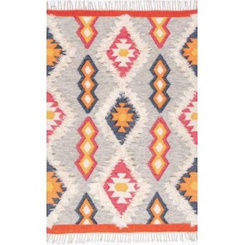Miranda Aztec Multicolor Rectangular: 5 Ft. x 8 Ft. Rug