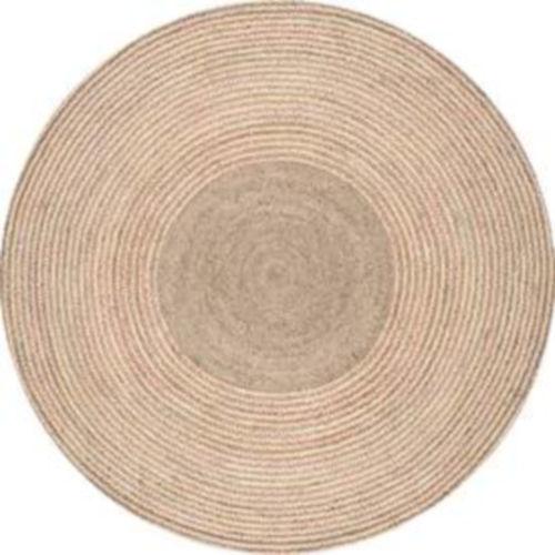 Braided Draya Natural Round: 8 Ft. Rug