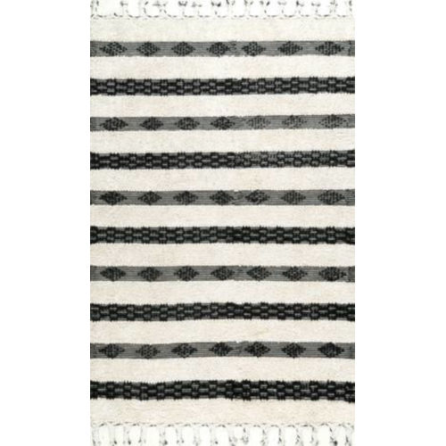 Striped Delia Ivory Rectangular: 7 Ft. 6 In. x 9 Ft. 6 In. Rug