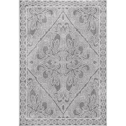 nuLOOM Grey Vintage Mosaic Twila Rectangular: 5 Ft. x 7 Ft. 5 In.