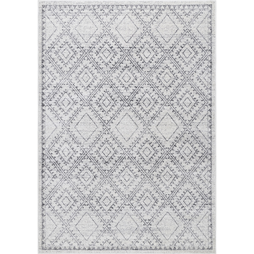 Vintage Tiles Delmy Grey Rectangular: 5 Ft. x 8 Ft. Rug
