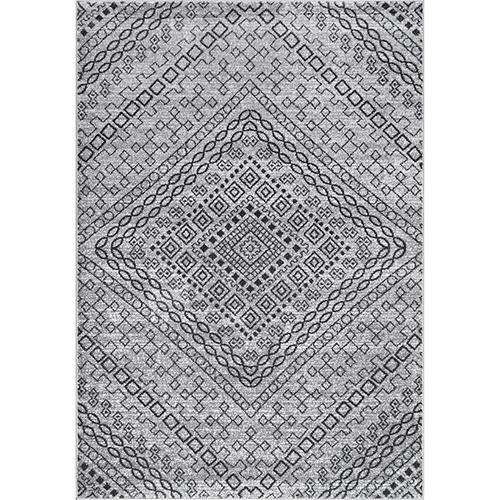 Vintage Mosaic Karole Dark Grey Rectangular: 5 Ft. x 8 Ft. Rug